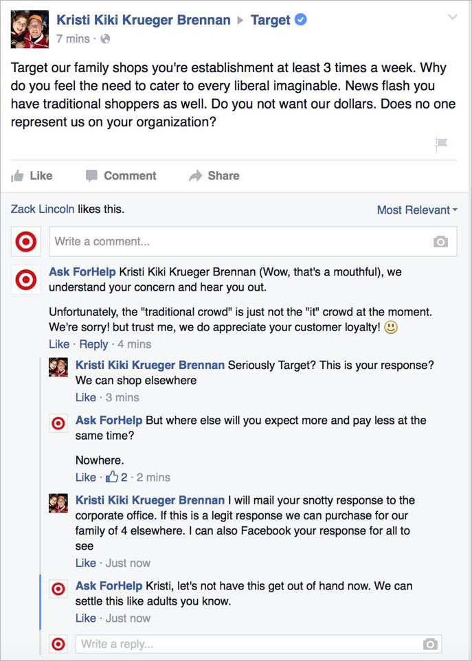Man Poses as Target on Facebook, Trolls Haters of Its Gender