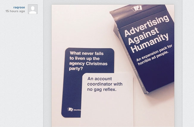 image relating to Cards Against Humanity Printable Expansions referred to as If Youre a Awful Advertisement Particular person, Youll Delight in This Playing cards