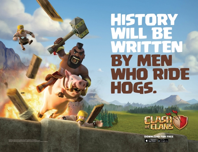 here are the two new clash of clans ads which will get a gazillion