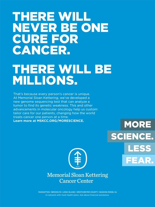 Memorial Sloan Kettering's New Ads Pitch a Message of Hope