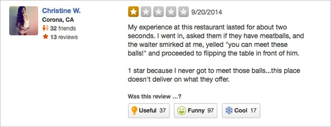 This Restaurant Wants To Be The Worst Rated On Yelp And The