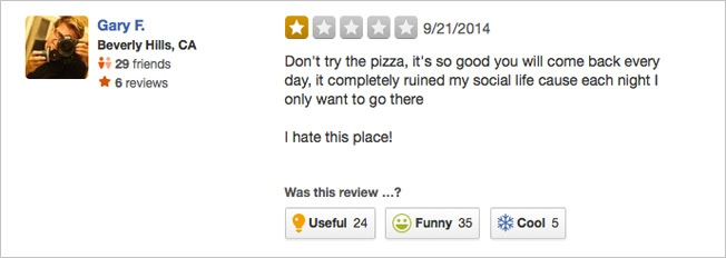 This Restaurant Wants to Be the Worst Rated on Yelp, and the