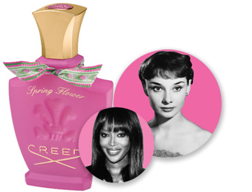 Celebrity sniff adweek spring flower 225 was created for audrey hepburn though its top notes of peach melon and apple have since been sniffed downwind of naomi campbell mightylinksfo