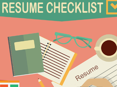 resume writing checklist infographic galleycat