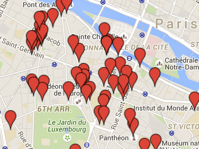 a literary map of paris left bank