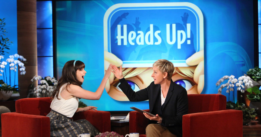 Ellen DeGeneres to Launch 'Heads Up!' as HLN Game Show