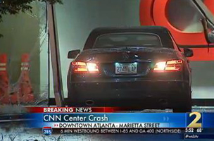 Atlanta Stations Cover CNN After Car Drives into Network's