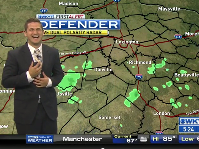 Wkyt Weather Map.That Just Happened Man Wkyt Meteorologist Burps During Forecast