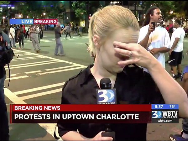 How Did Charlotte's Stations First Cover Violent Protests Last Night