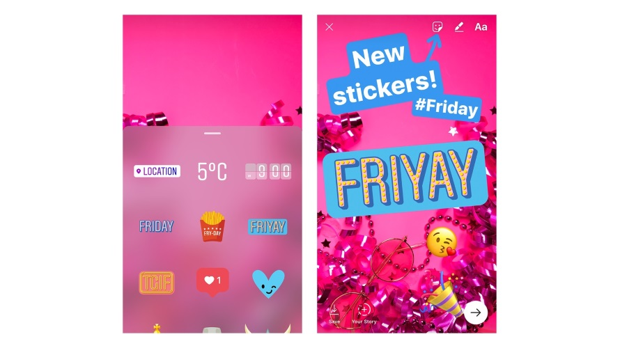 The Newest Stickers For Instagram Stories Are For The Days Of The Week