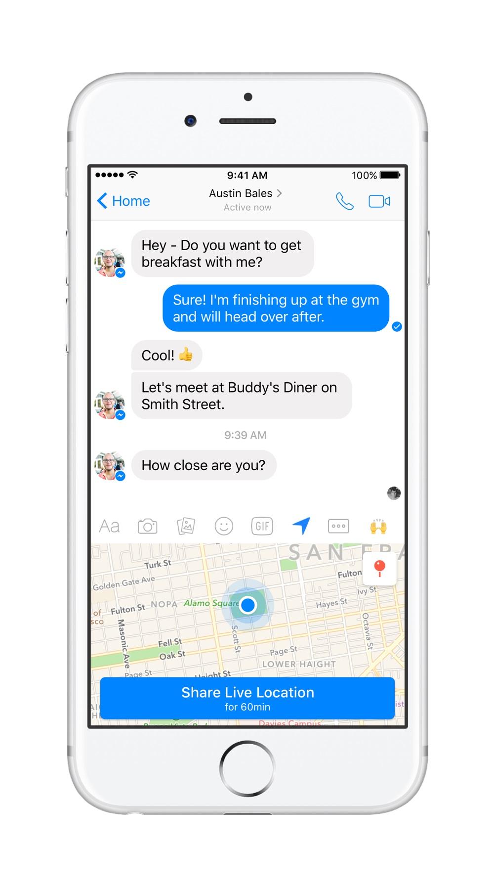 Live Location Lets Facebook Messenger Users Share Their