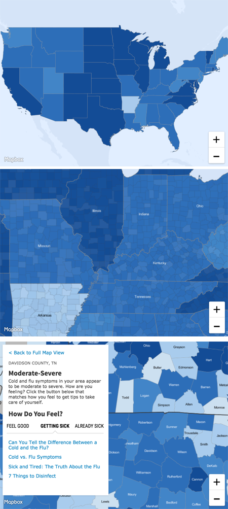 WebMD's Cold and Flu Map Is an Effective Marketing Tool—So