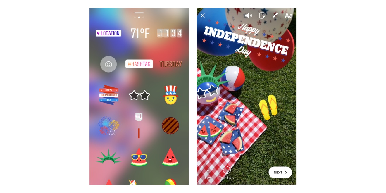 Instagram Celebrates July 4, Canada Day With Stickers for