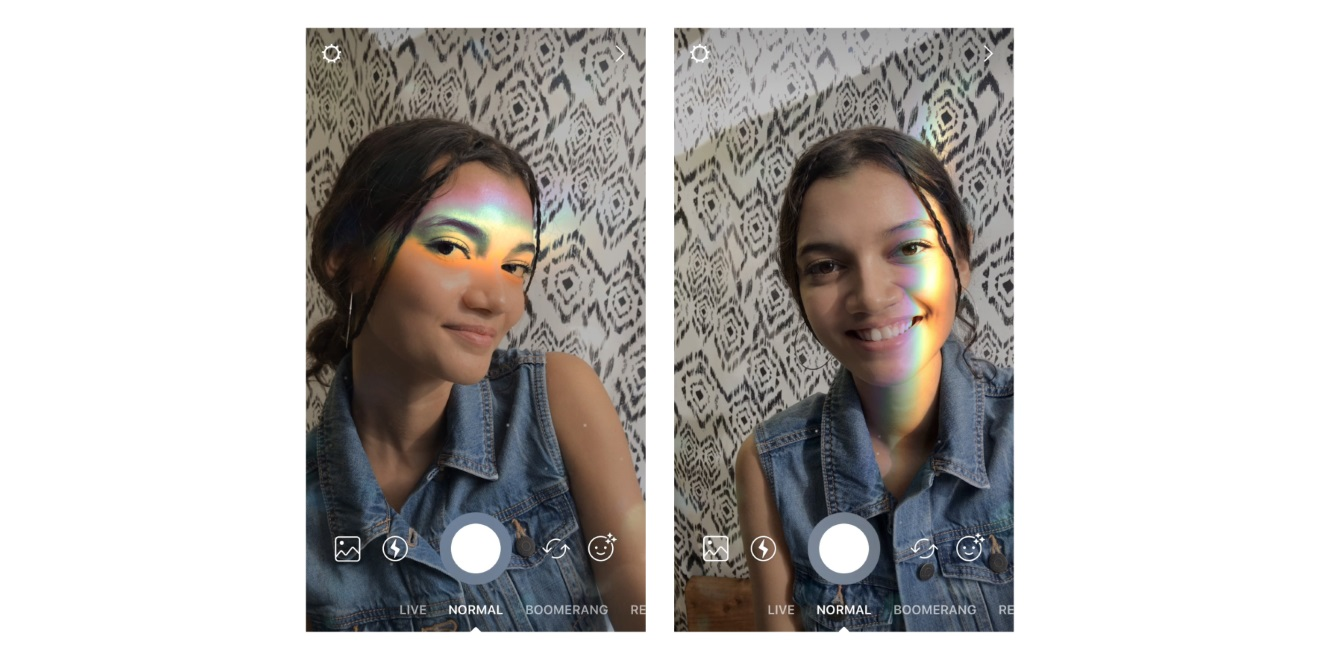Peace love rainbow light and instagram face filters adweek users can add new filters to photos and videos in instagram stories before sharing them ccuart Images