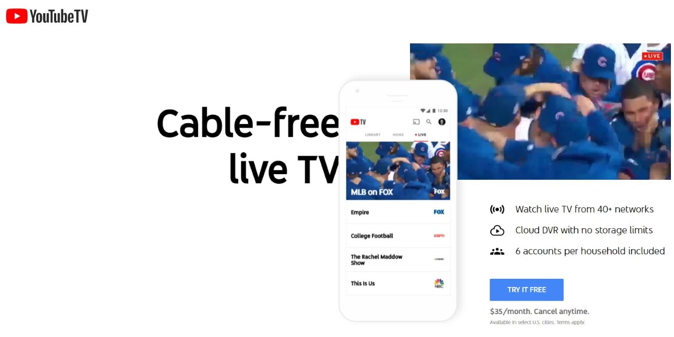 There Is Now a YouTube TV App Designed for Big TV Screens