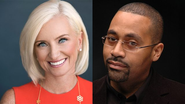 Photo of Carolyn Everson; Alvin Bowles