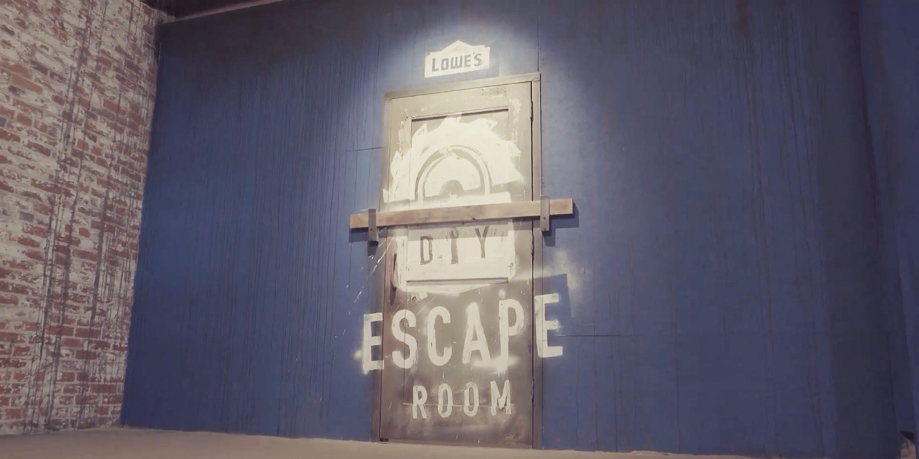 Lowe's Built an Escape Room and Challenged Four DIYers to