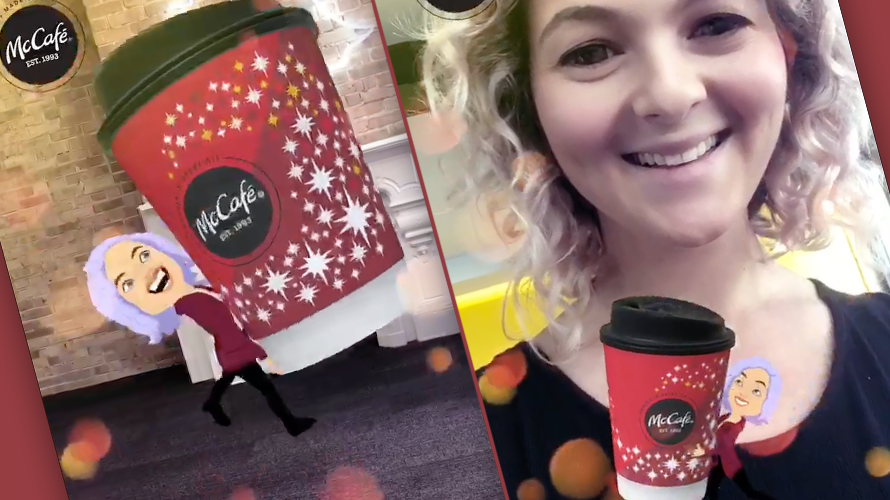 McDonald's Sponsored a Snapchat Bitmoji That Steals Your Coffee in Augmented Reality