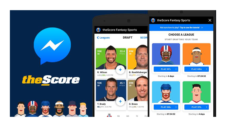 theScore Fantasy Sports Launched on Facebook Instant Games