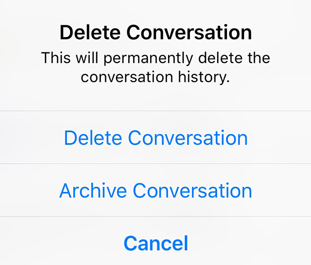 Facebook Messenger: Here's How to Delete or Archive a
