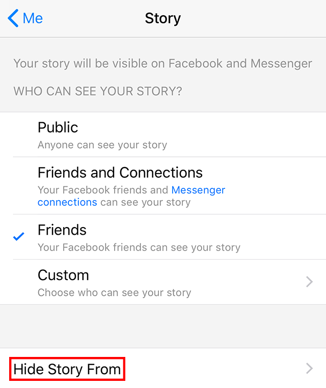 Facebook Messenger: Here's How to Hide Your Story From