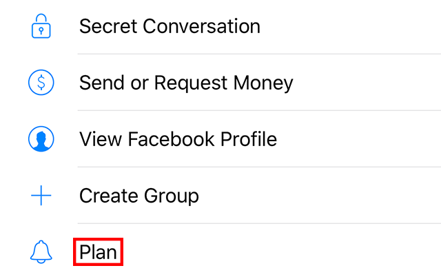 "The ""Plan"" setting is highlighted."