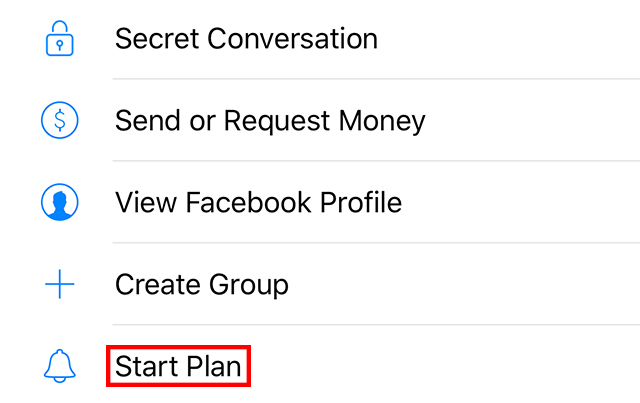 "The ""Start Plan"" option is highlighted."