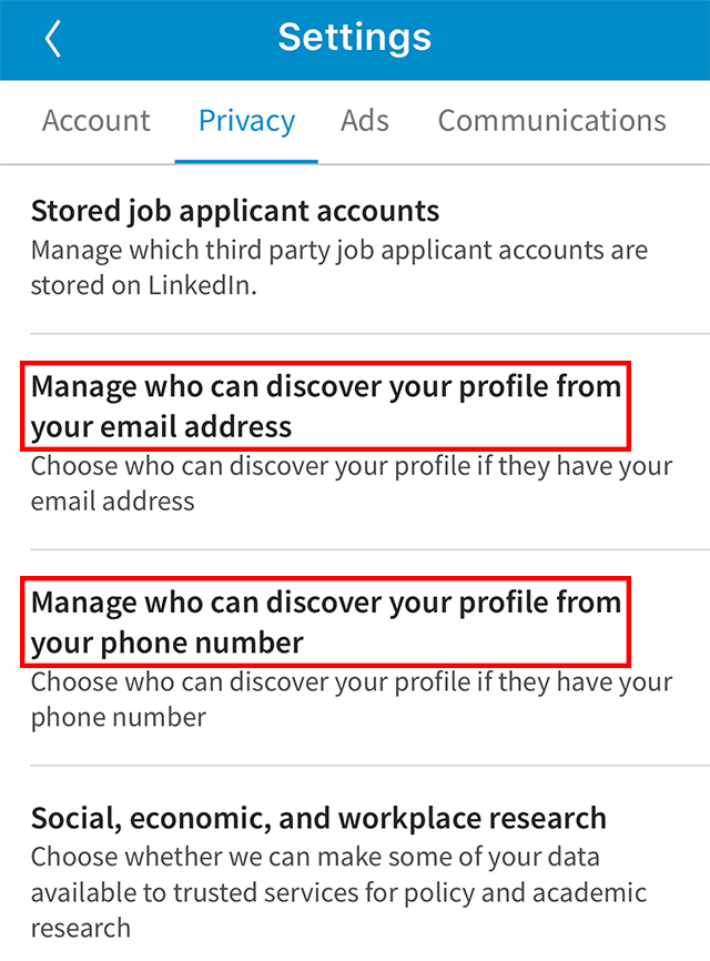 linkedin here s how to stop users from finding you by your email