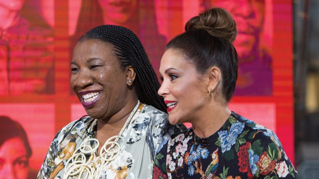 Photo of Tarana Burke and Alyssa Milano
