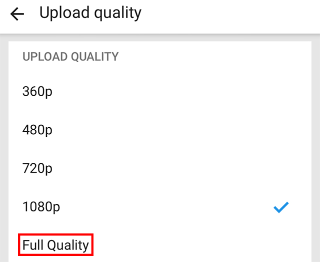 "The ""Fully Quality"" option is highlighted."