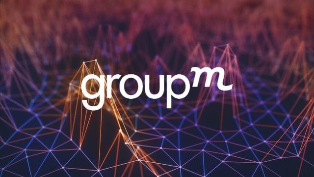 White text that says GroupM on top of connected points