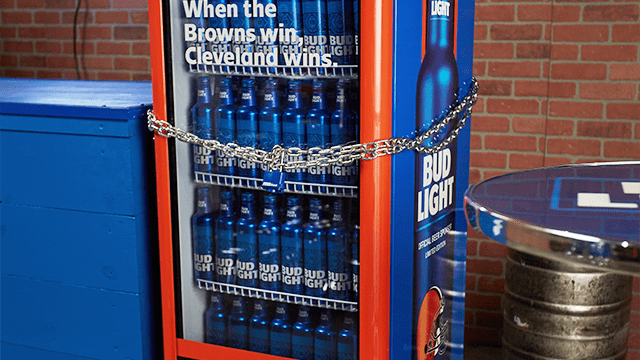 These Bud Light Fridges Will Unlock Once the Cleveland