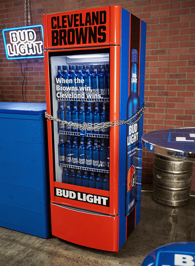 Image result for cleveland browns bud light coolers pics