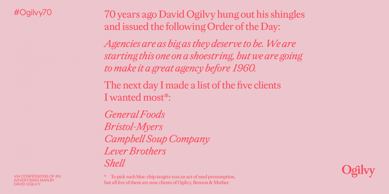 Ogilvy Looks to the Future as It Celebrates Its 70th