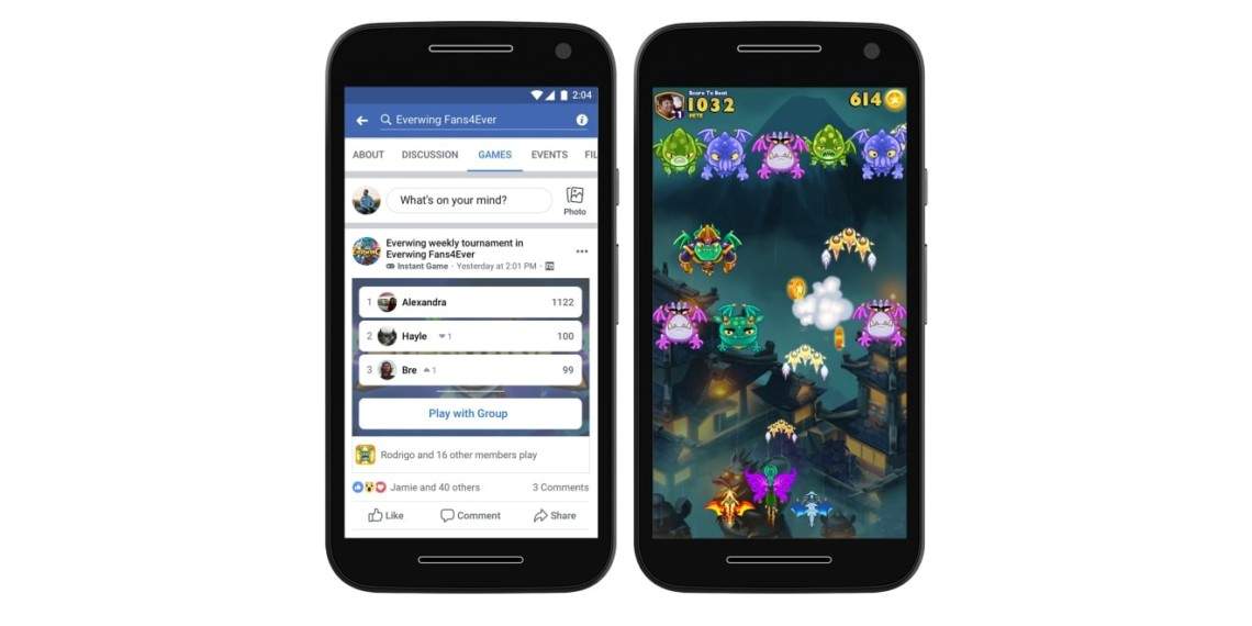 Facebook Instant Games Are Coming to Groups, Facebook Lite