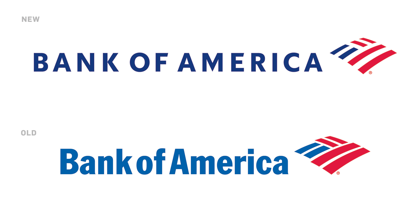 eb6ac3001359 Bank of America has decided to give its logo—and its accompanying  typography—a refresh.