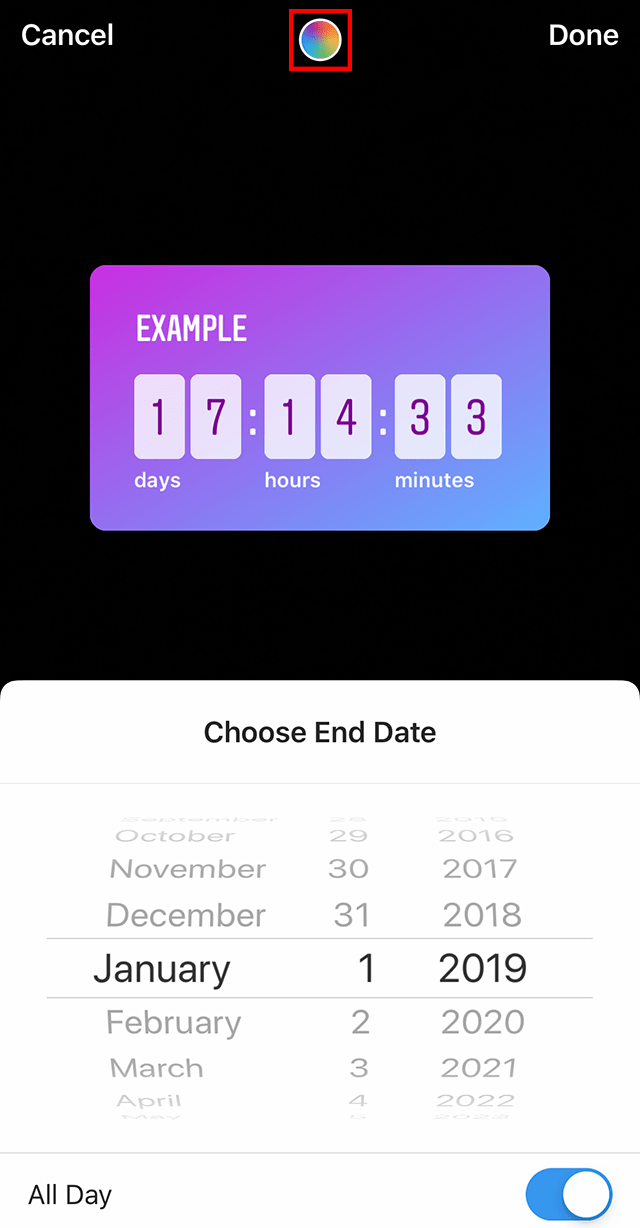 how can i change an instagram upload date?