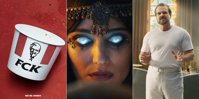 A KFC bucket, a woman with glowing eyes and David Harbour from Stranger Things are included in some of the best ads.