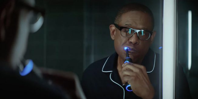 Forest Whitaker brushes his teeth in this Amazon spot.