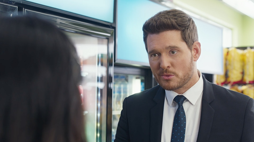 Michael Bublé Is Certain You're Mispronouncing Bubly in Its 30-Second Super Bowl Spot