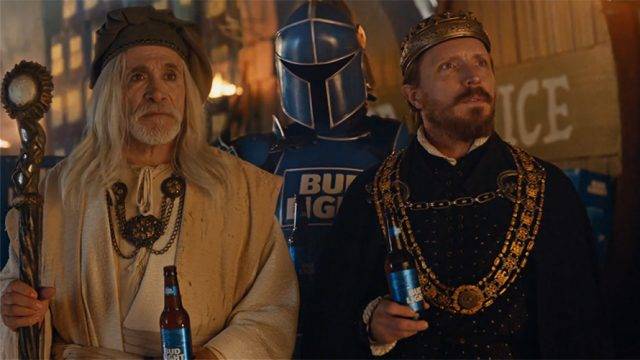 """A Budweiser ad features the cast of medieval """"Dilly Dilly."""""""