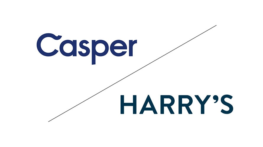 Top left corner is the word 'Casper' and the bottom right is the word 'Harry's'
