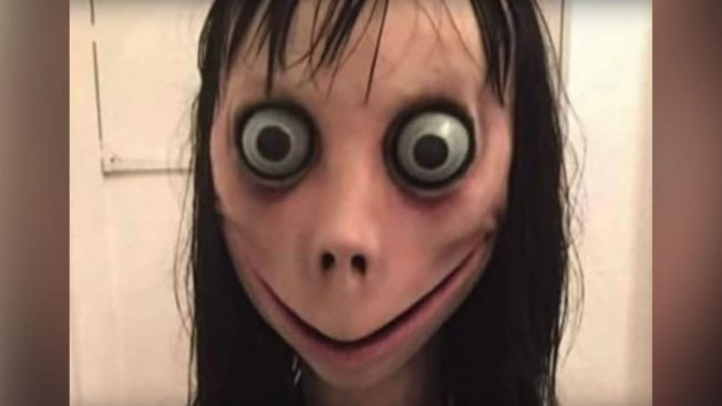 Momo, from the viral YouTube challenge