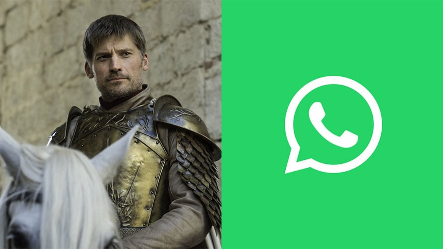 Jaime Lannister from Game of Thrones next to the WhatsApp logo