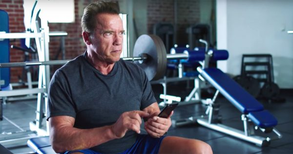 Arnold Schwarzenegger and LeBron James Promote Their Supplement Company With a Gym Duel