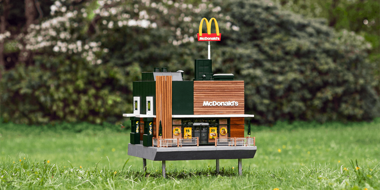 The World's Smallest McDonald's Illustrates the Scale of a Declining Bee Population