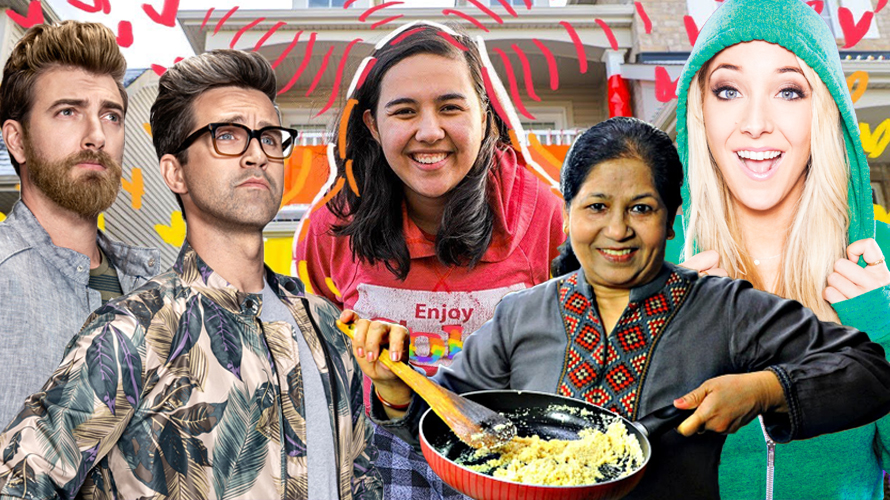four Youtube stares are poisoning; In the middle of them is someone cooking scrambled eggs