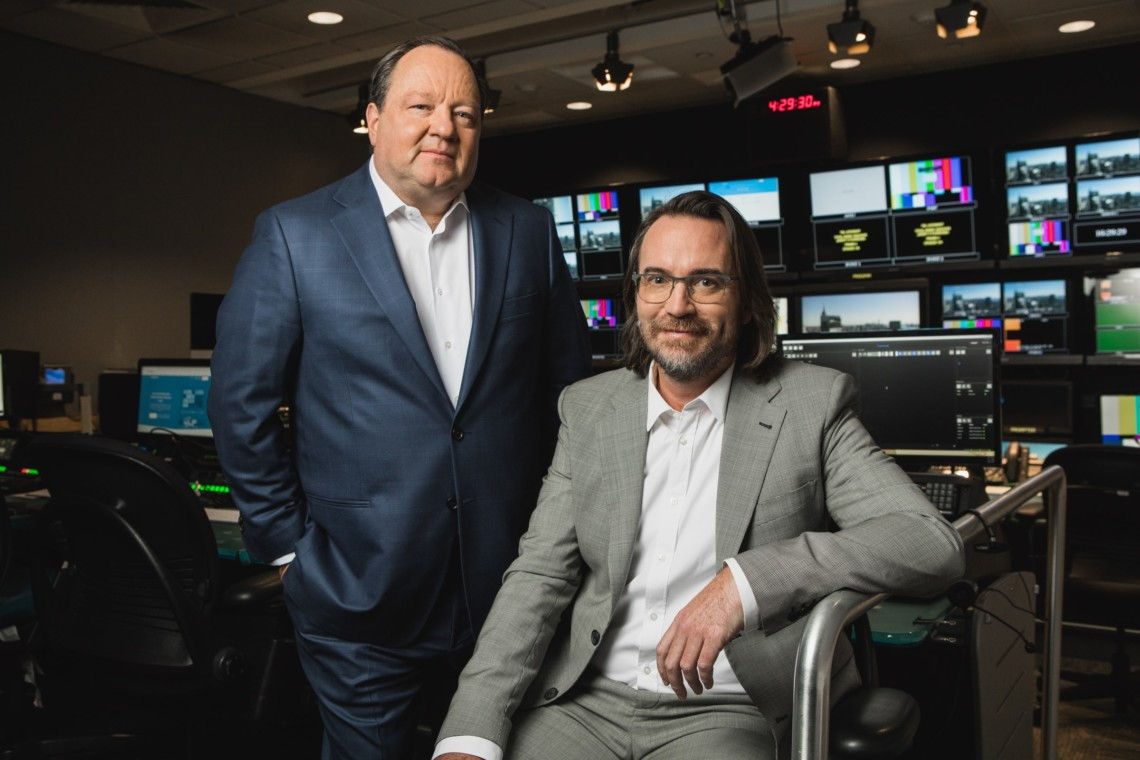 viacom ceo bob bakish and pluto tv ceo tom ryan