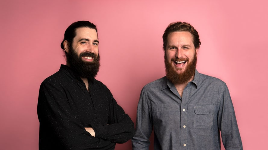 Headshot of Doug Murray and Andrew Hunter for Adweek's Creative 100