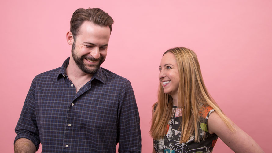 Headshot of Jon Williamson and Leigh Browne for Adweek's Creative 100
